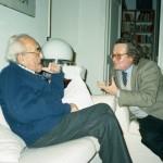 Vittorio Foa con Magrone